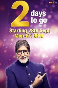 KBC 2 days to go from 28th sep