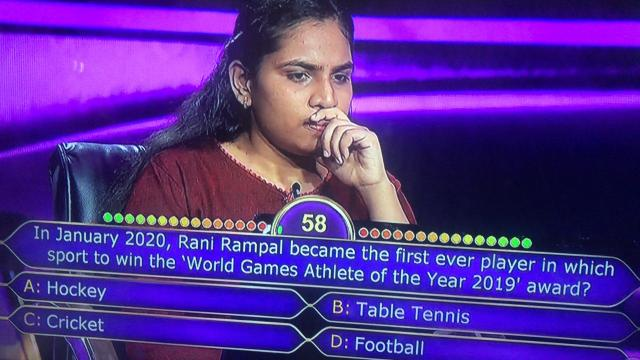 Rani Rampal became the first ever player in which sport to win the 'World Games Athlete of the Year 2019