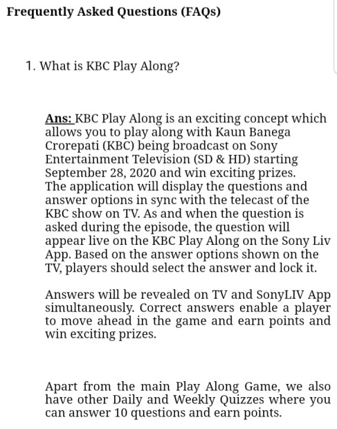 What is KBC Play ALong
