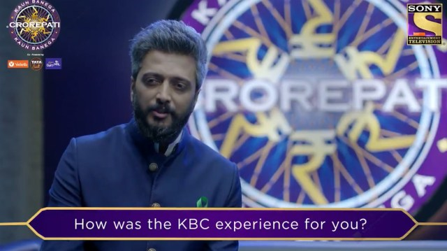 Our champion Riteish Deshmukh shares his experience on Kaun Banega Crorepati