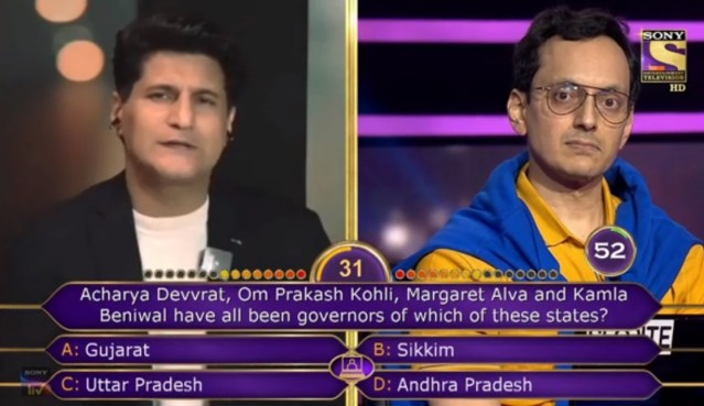 Ques : Acharya Devvrat, Om Prakash Kholi, Margaret Alva and Kamla Beniwal have all been governors of which of these states?