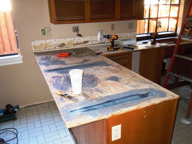 During kitchen remodel.