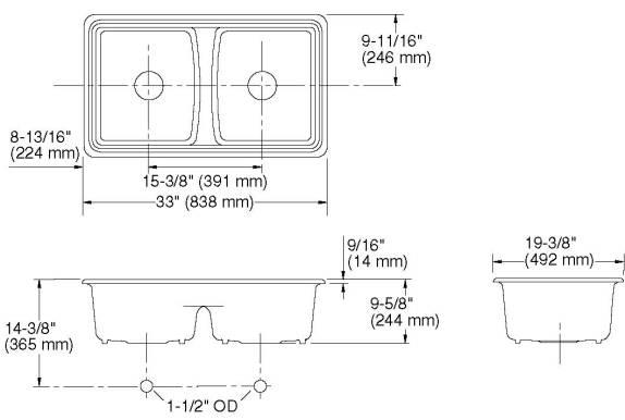 Kohler Deerfield Double Equal Deep Cut Sheet