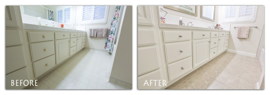 Petersburg Way, Modesto bathroom remodel.