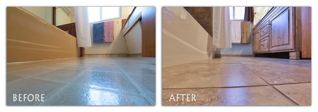 new bathroom flooring.