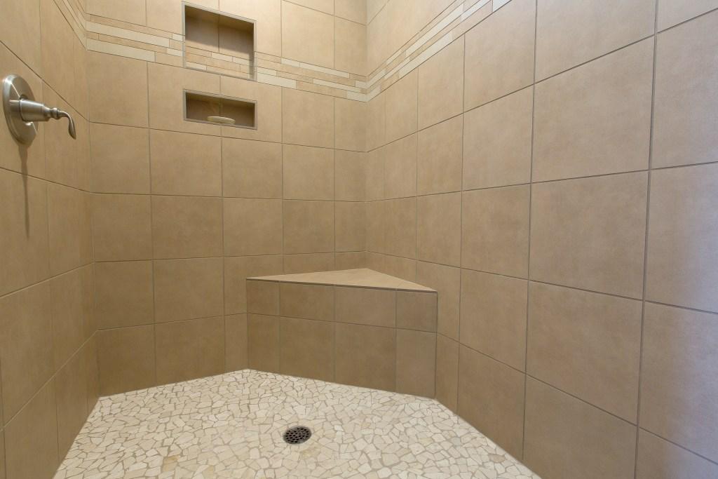 Custom walk-in shower.