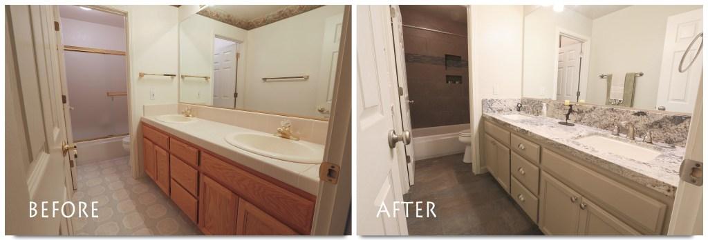 bathroom remodel in Escalon.