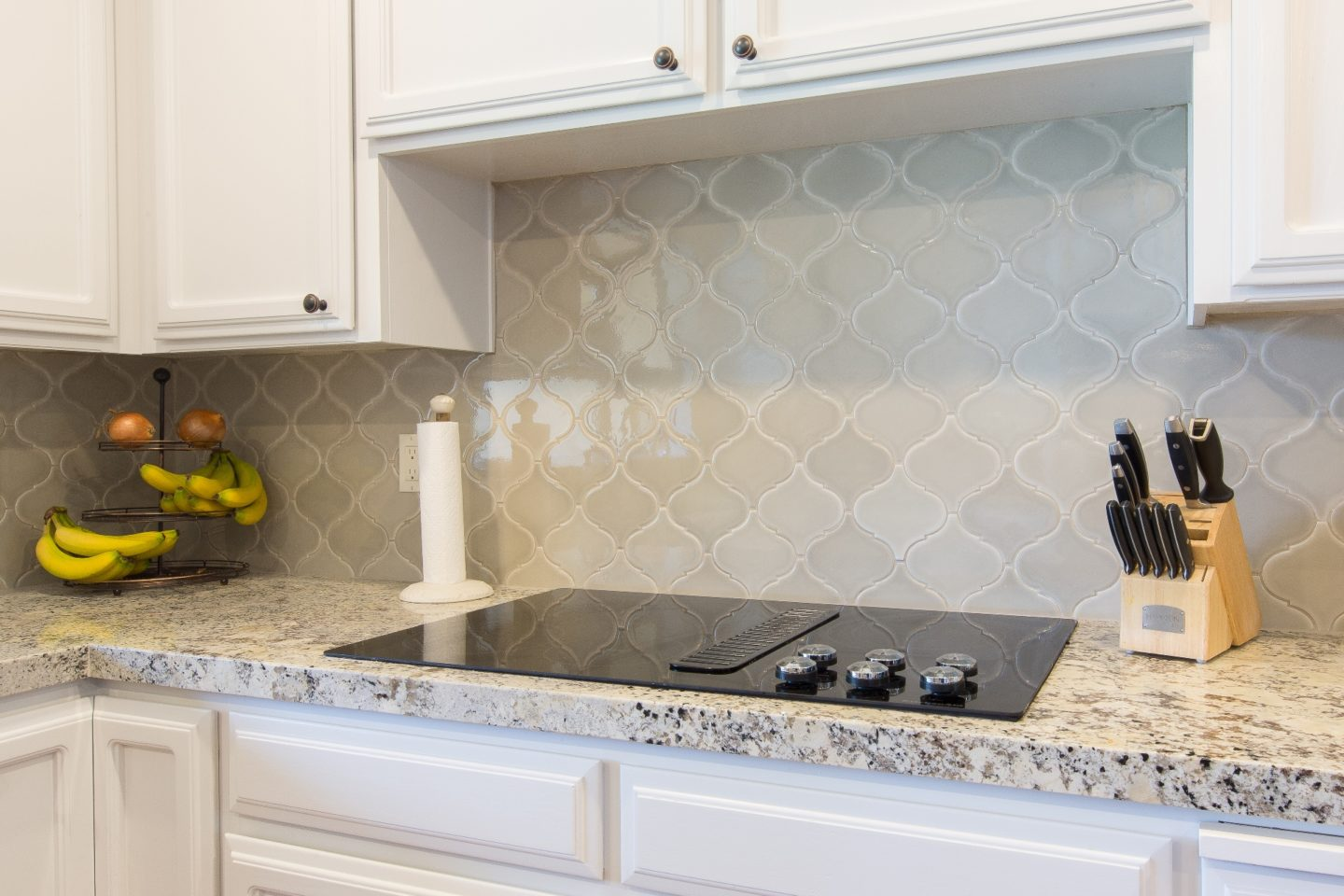 Awesome Arabesque U2013 Arabesque Patterns Are Certainly En Vogue These Days,  And This High Gloss Example Blends Perfectly With The Rich Granite  Countertops And ...