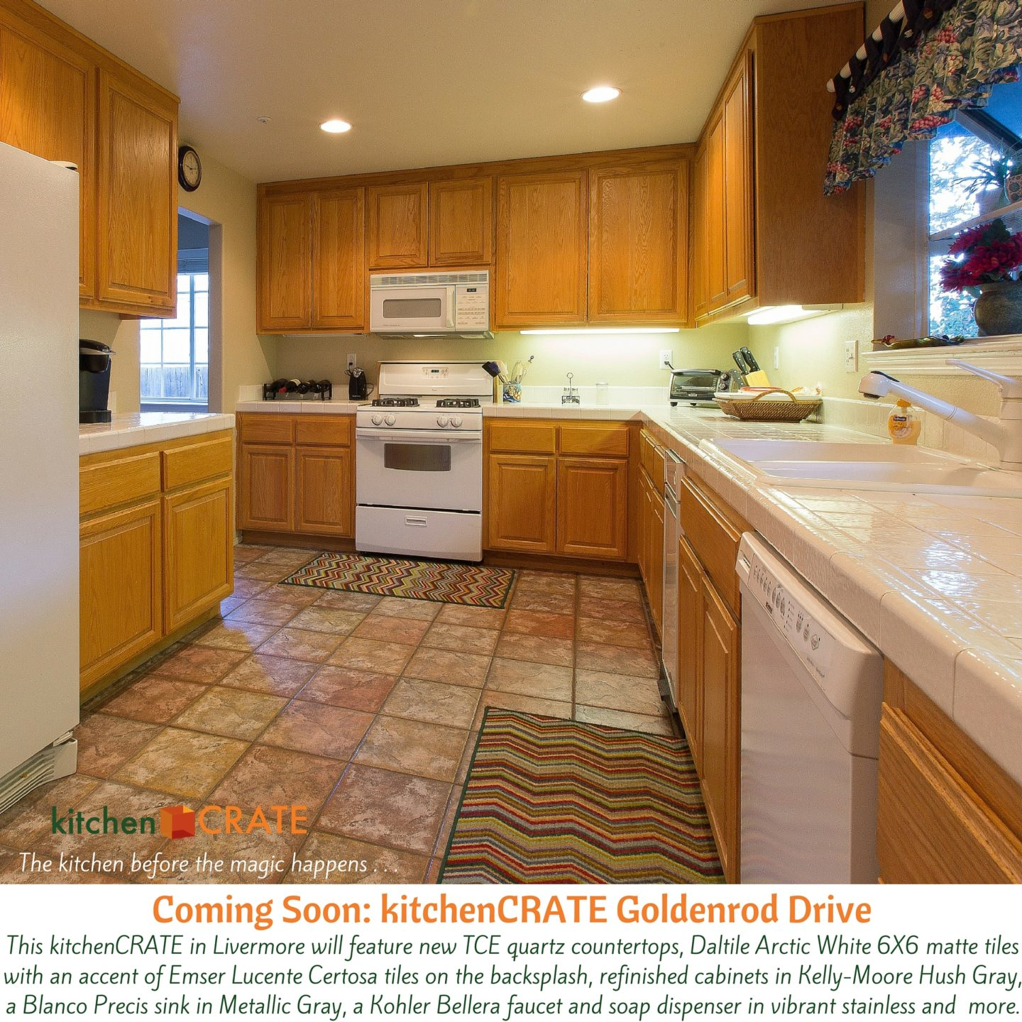 KitchenCRATE Goldenrod Drive Begins In Livermore CA Kitchen - Daltile livermore
