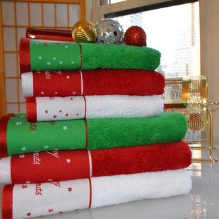 Holiday towels and bells.