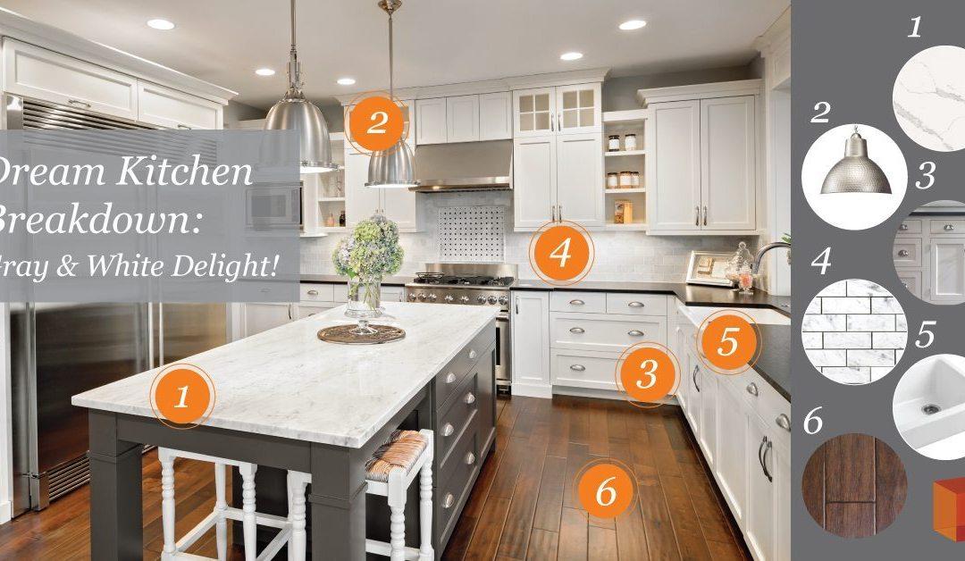Dream Kitchen Breakdown Gray White Delight Kitchen