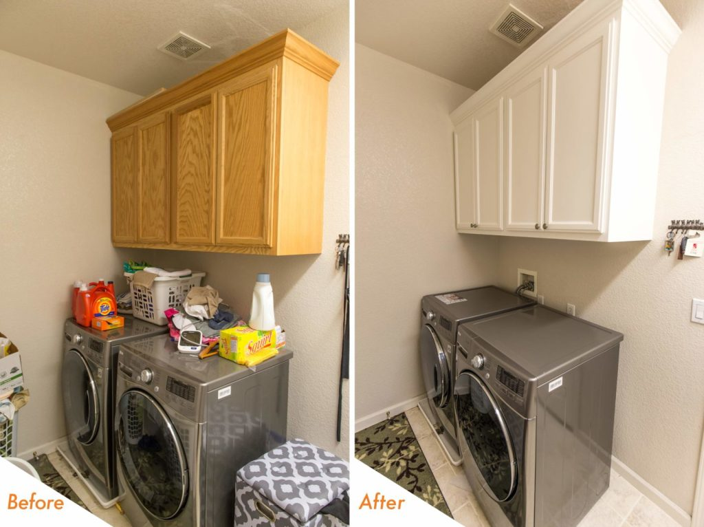 new cabinets in laundry room.