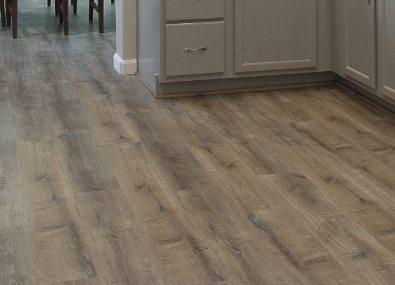 Laminate wood floors.