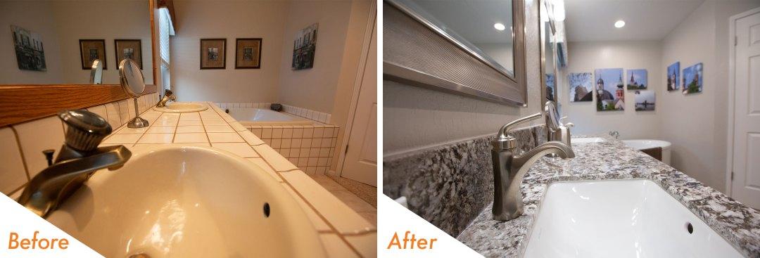 Before & After Bathroom Remodel