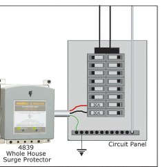Tvss Wiring Diagram Directed Diagrams Whole House Surge Protector - Kb Electric Llc