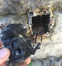 burnt outdoor gfci receptacle outlet  [ 2448 x 3264 Pixel ]