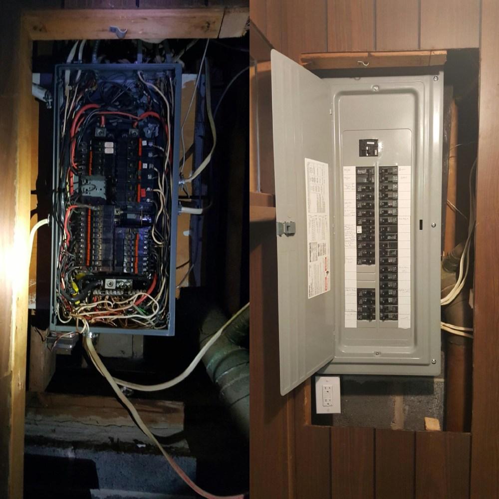 medium resolution of electrical panel upgrade