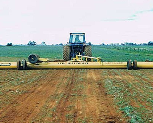 Rotacon leveller working in paddock