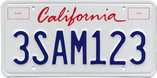 free vector of california license plate script kristin berkery design. Black Bedroom Furniture Sets. Home Design Ideas