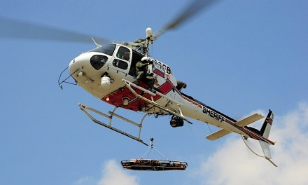 Sheriff's Aviation Conducts a Hoist Rescue at Snow Summit