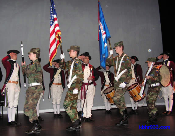 The groundbreaking ceremony kicked off with music from Lake Arrowhead's Mountain Fifes and Drums and the presentation of colors by the Civil Air Patrol Cadet Squadron #6750.