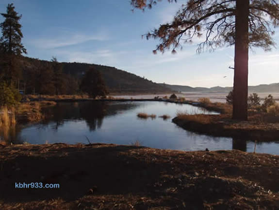 The Pan Hot Springs Meadow extends just east of the springs, as pictured here at sunrise (in a photo by Ray Bowling).