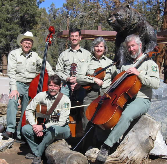 The Ramblin' Rangers perform at the Discovery Center's outdoor amphitheater on Memorial Day weekend--and proceeds from the show will benefit Forest Aid and the school gardens projects of the Lighthouse Project.