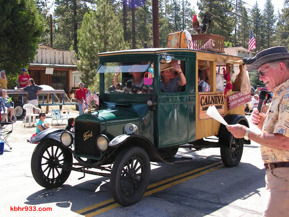 Jonna Kemper's entry on behalf of Hamilton Ranch Estates, a 1926 Model T, won best overall, as announced by parade emcee Ed Kibbey.