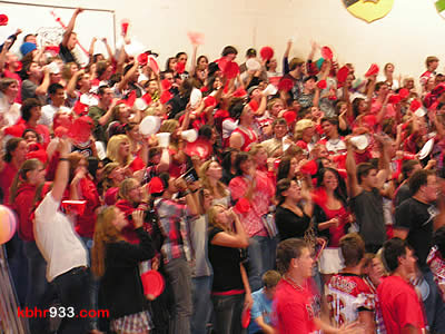 BBHS seniors of the Class of 2010 won the spirit award during this morning's pep assembly in Our House.