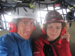 Paul and Jordan en route to their base camp in Indonesia.