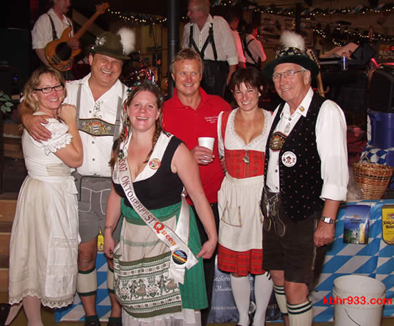 Your friends (including 2007 Queen Tracy Rice, center, and Burgermeister Hans, far right) will be at Locals' Night at the 'fest, which is always a good time.