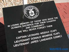 The EOC includes a memorial garden, honoring those who've served in the military. The Friends of the Disaster Center are selling personalized bricks, at $200 each, to assist in fundraising. Bricks of three lines, 13 characters each, can be purchased via CAP, P.O. Box 3120, Big Bear City 92314.