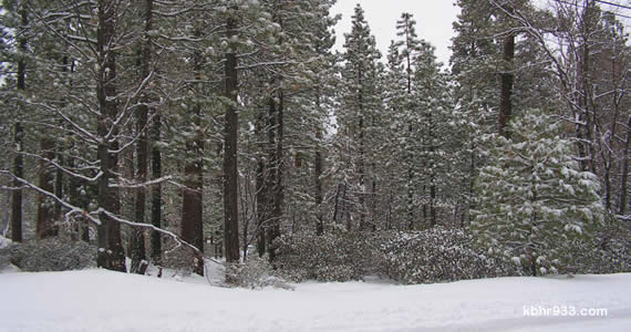 The Big Bear Valley woke to four inches of snow on Saturday morning and, by Sunday, snow accumulation totals had reached eight inches, though as much as a foot dropped atop the resorts.