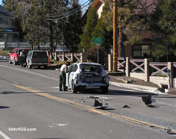 This afternoon's accident on Lakeview Drive resulted in traffic being redirected through the Village for about two hours.