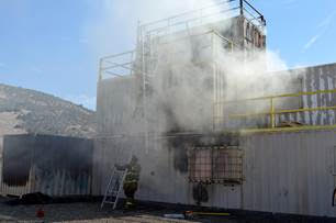 Big Bear Fire Conducts Live Fire Survival Training