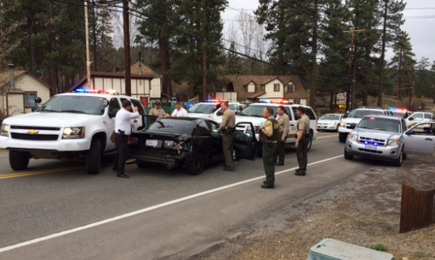 High Speed Pursuit Ends in Big Bear Lake