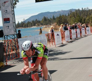 Pro Cyclists Time Trial In Big Bear