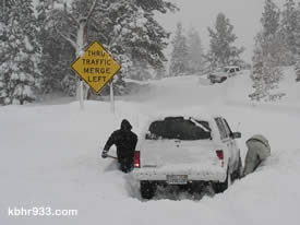 Even four-wheel drive vehicles have been getting stuck...