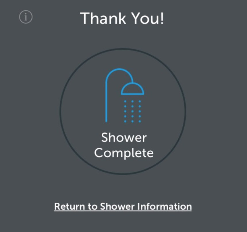 End-to-End Experience Reserving a Shower