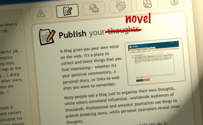 blogging your novel