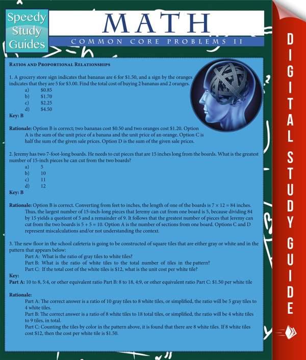 Math Common Core Problems Il Speedy Study Guides Ebook