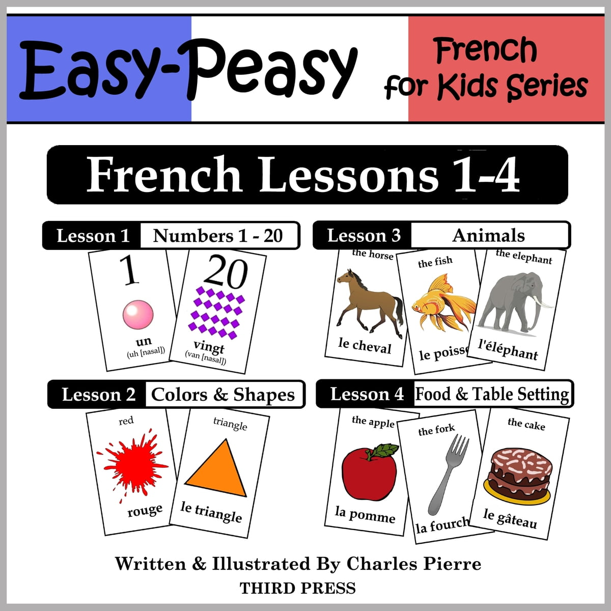 French Lessons 1 4 Numbers Colors Shapes Animals Amp Food