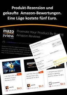Produkt-Rezension und gekaufte Amazon-Bewertungen.: Eine Lüge kostete fünf Euro.