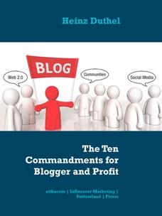 The Ten Commandments for Blogger and Profit: attkacom   Influencer Marketing   Switzerland   Fiverr