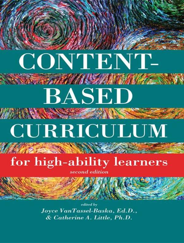 Content-based Curriculum High-ability Learners Ebook