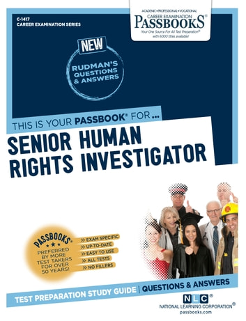 Senior Human Rights Investigator eBook by National Learning Corporation  9780829314175