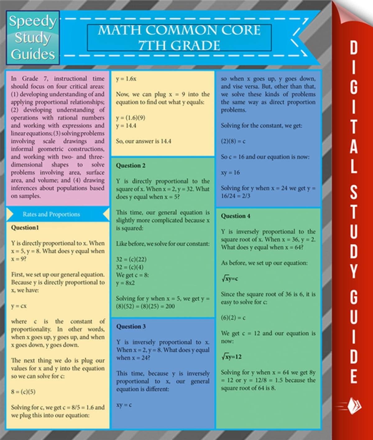 Math Common Core 7th Grade Speedy Study Guides Ebook By
