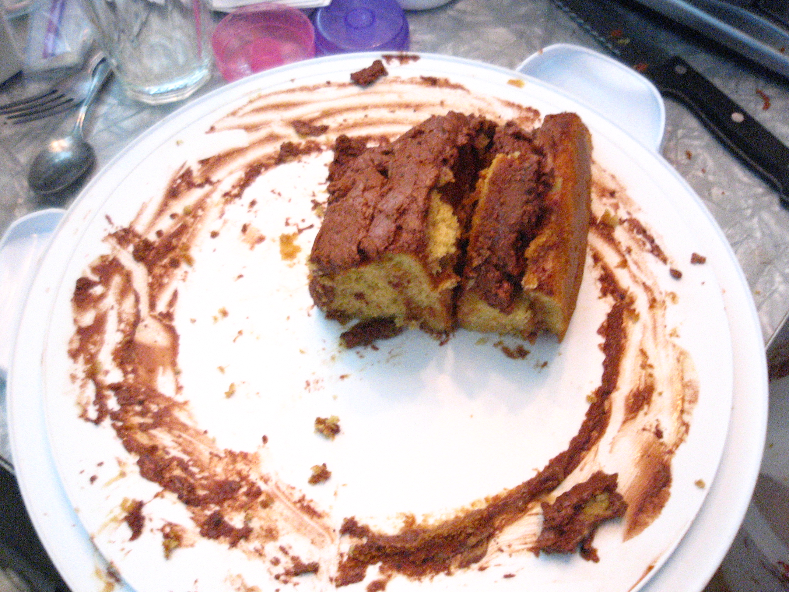 PB Cake aftermath