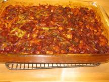 Vegetarian bakes beans.