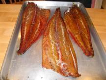 Smoked bluefish hot off the smoker